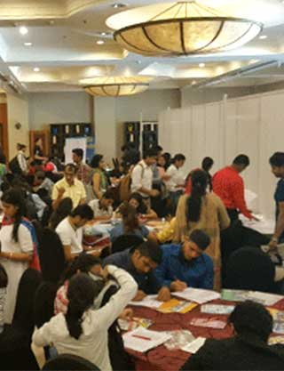 Students at World Education Fair